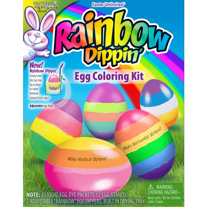 Rainbow Dippin Egg Coloring Kit