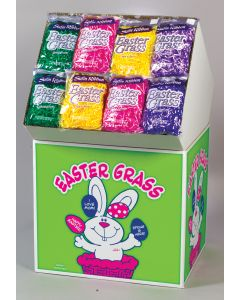 1.5 Oz. Satin Ribbon Easter Grass Assortment Floor Display