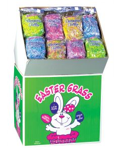 Super Fine 100% Recycled Paper Easter Grass 1.5 Oz. Color Blends Floor Display