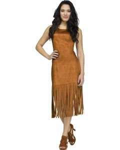 Brown Fringe Character Dress