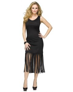 Black Fringe Character Dress