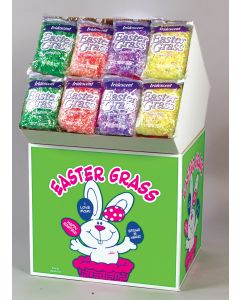 2 Oz. Iridescent Easter Grass Assortment Floor Display