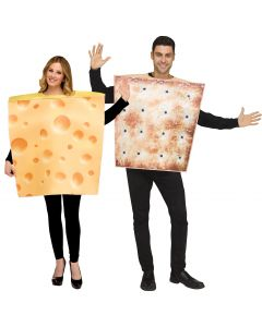 Cheese & Cracker - 2 Costumes in 1 Bag!