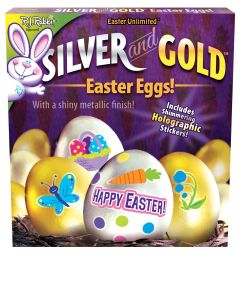 Silver and Gold - Egg Deco Kit