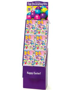 5 In 1 Egg Decorating Kit Floor Display