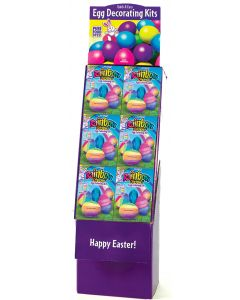 Rainbow Dippin' Egg Coloring Kit Floor Display