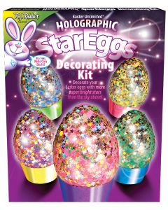 Holographic Stars Egg Deco Kit