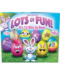 Lots Of Fun! – 12 Kits in 1 - Egg Deco Kit Floor Display