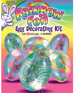 Rainbow Foil Egg Deco Kit