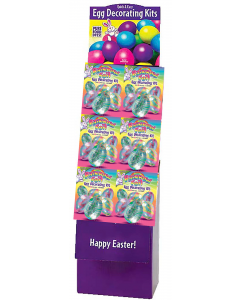 Rainbow Foil Egg Deco Kit Floor Display
