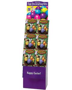 Natural Eggs Coloring Kit Floor Display