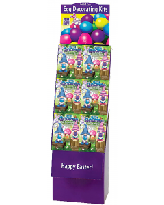 Easter Gnome Egg Decorating Kit Floor Display