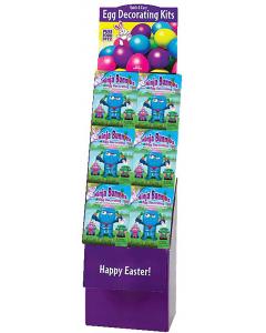 Ninja Bunnies Egg Decorating Kit Floor Display