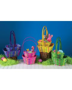 Rainbow Bamboo Basket Assortment