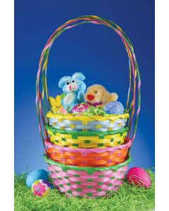 "7.5"" Round Pastel Basket Assortment"