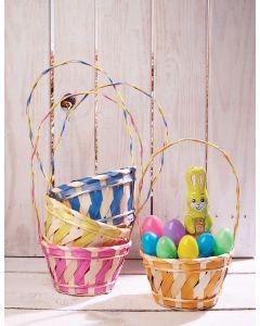 Color Stripe Bamboo Basket Assortment