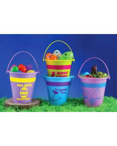 "6"" Happy Bunny Bucket Assortment"