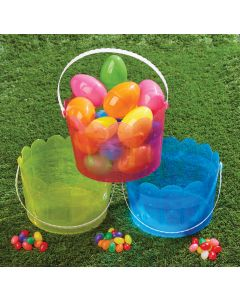 """7.5"""" Transulucent Easter Bucket Asortment"""