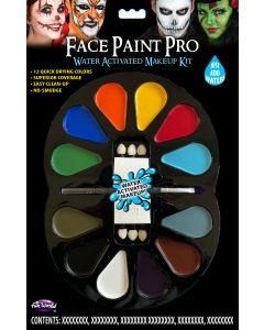 Face Paint Pro 12 Color Water Activated Makeup Palette