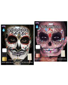 Jewel Skulls Makeup Kit Assortment