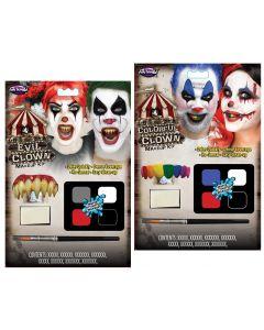 CarnEvil Clowns Water Activated Makeup Kit Assortment