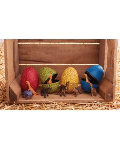 "3.5"" Crackle Dino Eggs w/Toy"