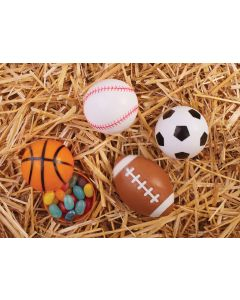 """2.5"""" Sports Ball Candy Containers 24 Pc. PDQ"""