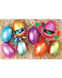 "3.5"" Pastel Chrome Plated Eggs"