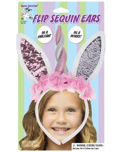 Unicorn/Bunny Flip Sequin Headband