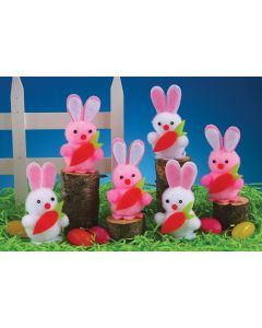 Flocked Bunnies in a Box