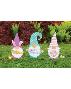 """24"""" Easter Lawn-Gnome Sign Set"""