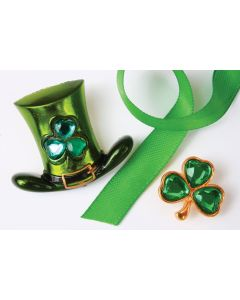 Emerald Shamrock Pin-Ons