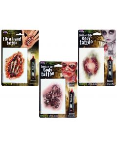 Realistic Scary Tattoos Assortment