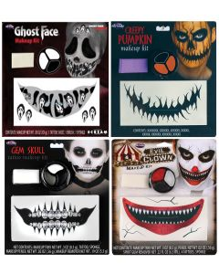 Ghost Face &  Character Mouth Tattoo Kit Assortment