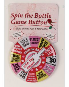 Spin the Bottle Button Pin