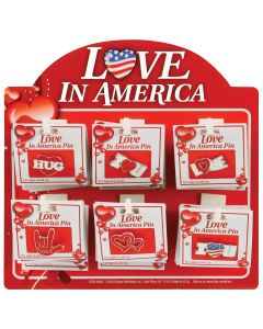 Pin-On Love In America