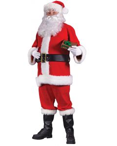 Plus Size Flannel Santa Suit