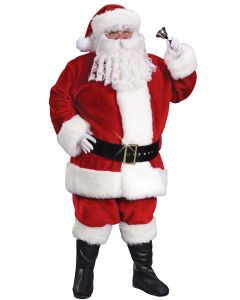 Plus Size Regency Plush Crimson Santa Suit