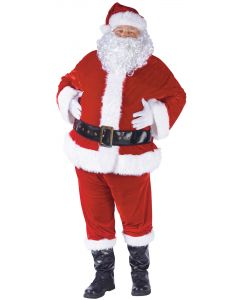 Plus Compelte Velour Santa Suit