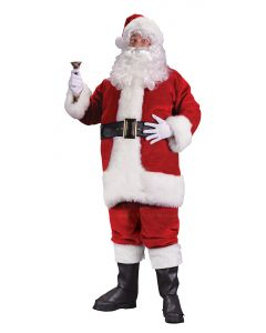 XXL Regency Plush Red Santa Suit