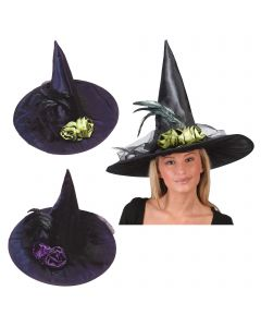 Fancy Feather Witch Hat