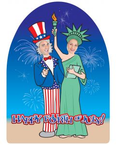 4th Of July Standee w/Cut Out