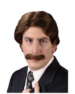 70's Wig & Mustache Set