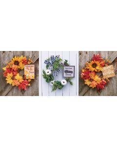 "12"" Harvest Floral Wreath"