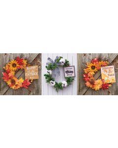 """18"""" Autumn Wreath Assortment"""
