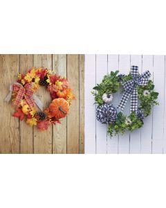 "Harvest Deluxe 20"" Floral Wreath Assortment"