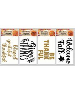 Fall Glitter Pumpkin Stickers