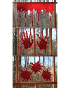 "3-D Bloody Window Decor 3 Styles 18"" Wide"