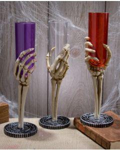 Skeleton Hand Fluted Glass