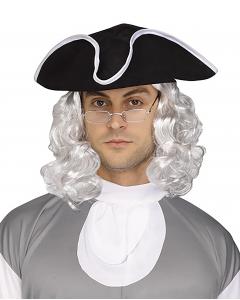 Ben Franklin Wig w/Glasses